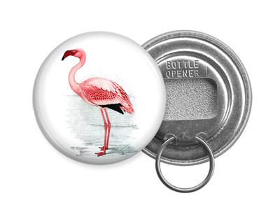 flamingo bottle opener keychain design 2 pink florida water bird animal lover ebay. Black Bedroom Furniture Sets. Home Design Ideas