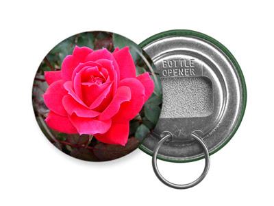 ROSE BOTTLE OPENER KEYCHAIN Design 4 Flower Garden Bloom