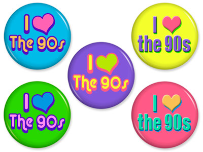I Love the 90s Buttons