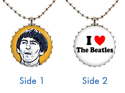 The Beatles Double-Sided Necklace