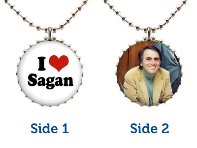 Carl Sagan Double-Sided Necklace