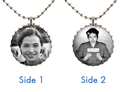 Rosa Parks Double-Sided Necklace