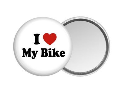 Bicycling Hand Mirror